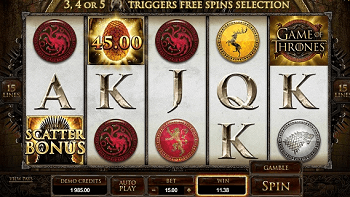 Play online Game of Thrones for real money