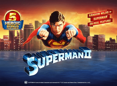 play the superman II pokies for real money