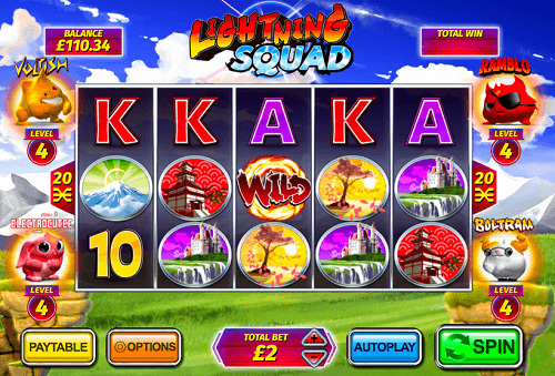 play online lighting squad pokies game