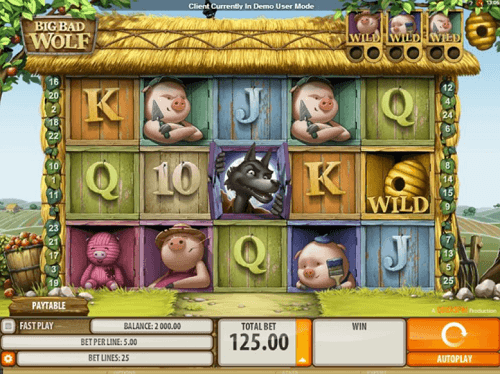 play big bad wolf pokies game