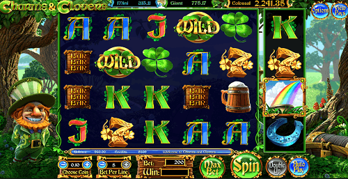play charms & clovers pokies game for real money