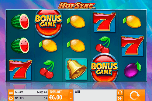 play hot sync pokies game online