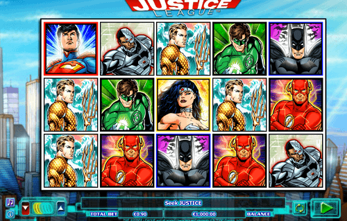 play justice league pokies game