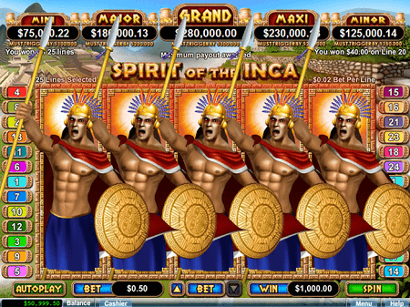 play spirit of the inca pokies game
