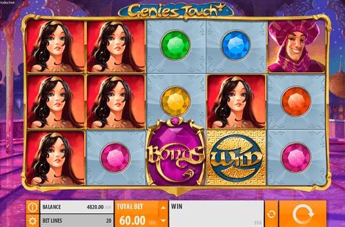 play genies touch pokies game online