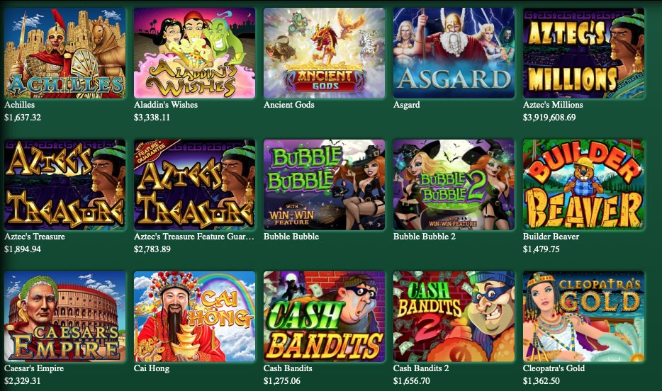 some of the pokies available at fair go casino